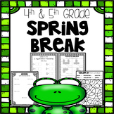 Spring Break Packet | Fourth and Fifth Grade