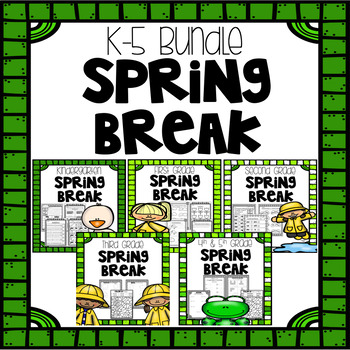 Spring Break Homework Bundle