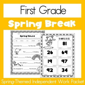 Spring Break Homework - First Grade