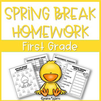 Spring Break Homework First Grade