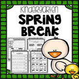 Spring Break Packet - Kindergarten - Distance Learning