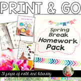 Spring Break Homework Pack {PRINT AND GO}