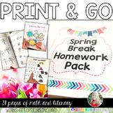 Spring Break Homework Pack {PRINT AND GO}
