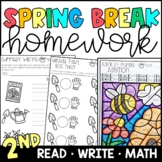 Spring Break Homework Packet {PRINT & GO!} 2nd Grade