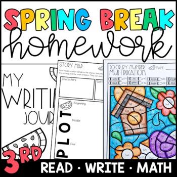 Spring Break Homework Packet 3rd and 4th Grade
