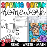 Spring Break Homework Packet 3rd and 4th Grade