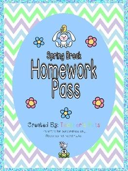Spring Break Homework Pass