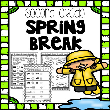 Spring Break Homework - Second Grade