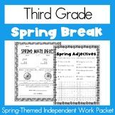 Spring Break Homework - Third Grade