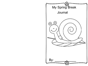 Spring Break Journal with Tag-Along Pet Snail