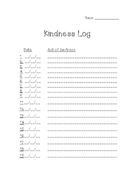 Spring Break Kindness Challenge