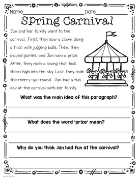 This is an image of Magic First Grade Homework Packets Printable