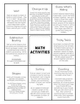 Spring Break Learning Activities Packet