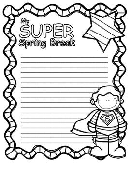 Spring Break / March Break Journal Poster Pages
