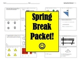 Spring Break Math Packet freebie