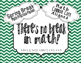 Spring Break Math Practice Packet {Common Core Aligned}