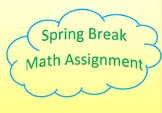 Spring Break Math Scavenger Hunt with Rubric
