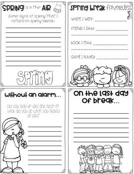 Spring Break Memories-Foldable Book Activity