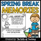 Spring Break Memory Booklet