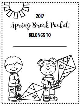 Spring Break NO PREP Math Packet FREEBIE