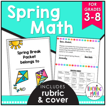 Spring Break NO PREP Math Packet FREEBIE