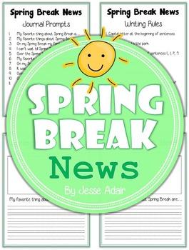 Spring Break News: Journal Prompts