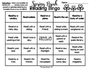 Spring Break *No Prep* Activities