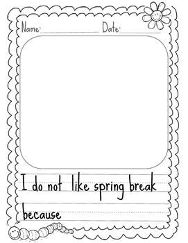 Spring Break Opinion Writing