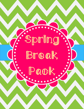 Spring Break Pack: Reading, Writing, and Science
