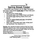 Spring Break Folder Cover Sheet