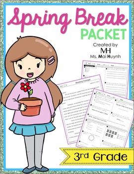 Spring Break Packet - 3rd Grade