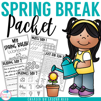 Spring Break Packet for Kindergarten and First Grade