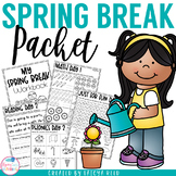 Spring Break Packet for Kindergarten and First Grade
