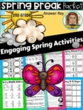 Spring Break Packet | Reading Comprehension | April Early Finishers | 2nd Grade