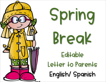 Spring Break Packet Parent Letter