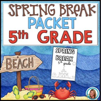 Spring Break Packet for 5th Grade | HOME LEARNING