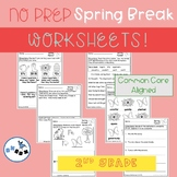 Spring Break Packet of Worksheets Second Grade: Common Cor