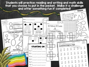 Spring Break Packets BUNDLED PreK-5th  | AT HOME LEARNING | Distance Learning