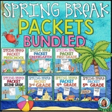 Spring Break Packets BUNDLED PreK-5th  | AT HOME LEARNING