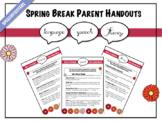 Spring Break Parent Handouts: Articulation, Language, Fluency