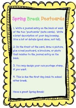 Spring Break Postcards