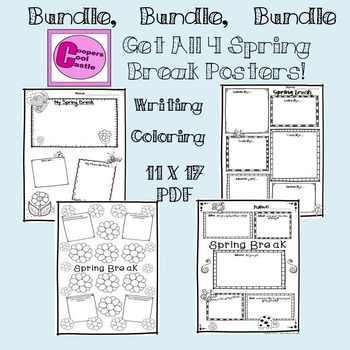 Spring Break Poster Bundle!!!!!!