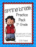 Spring Break Practice Packet [1st Grade, ELA & Math]