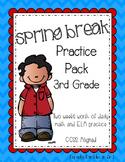 Spring Break Practice Packet [3rd Grade, ELA & Math]