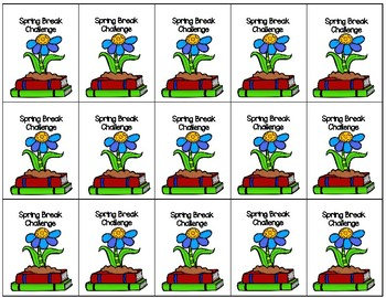 Spring Break Reading Brag Tag Challenge
