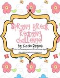 Spring Break Reading Challenge {Easter Eggs and Flowers}