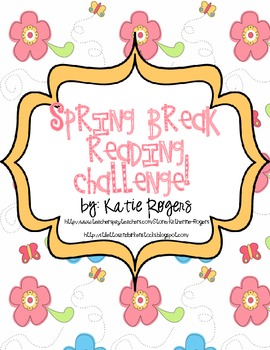Spring break reading challenge easter eggs and flowers by katie rogers spring break reading challenge easter eggs and flowers mightylinksfo