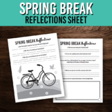 Spring Break Reflection Writing Prompts / Printable Activity