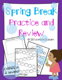 Spring Break Review Packet Kindergarten