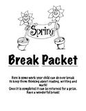 Spring Break Review Packet - Kindergarten